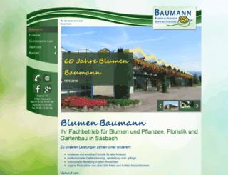 blumen-baumann.de screenshot