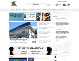 blumenau.sc.gov.br screenshot