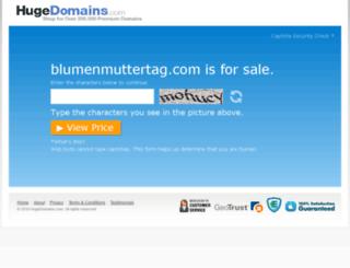 blumenmuttertag.com screenshot