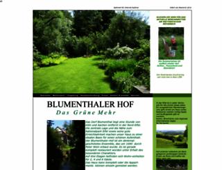 blumenthaler-hof.eu screenshot