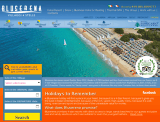 bluserenahotels.it screenshot