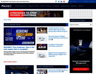 blutube.policeone.com screenshot
