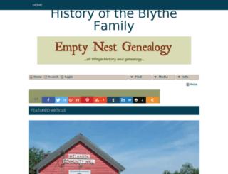 blythegenealogy.emptynestancestry.com screenshot