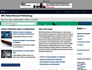 bmcmedresmethodol.biomedcentral.com screenshot