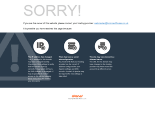 bmd-certificates.co.uk screenshot