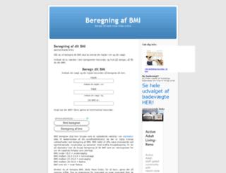 bmiberegning.dk screenshot