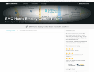 bmoharrisbradleycenter.ticketoffices.com screenshot