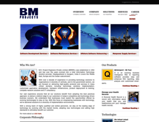 bmprojects.co.in screenshot