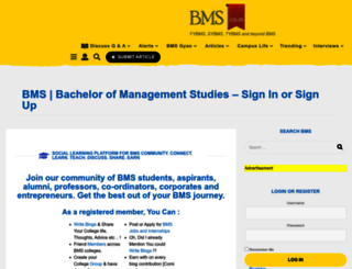 bms.co.in screenshot