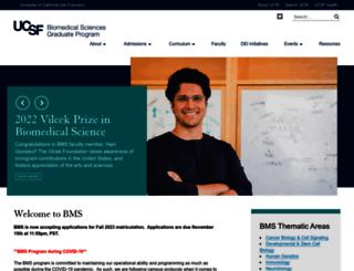 bms.ucsf.edu screenshot