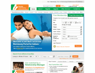 bmser.keralamatrimony.com screenshot