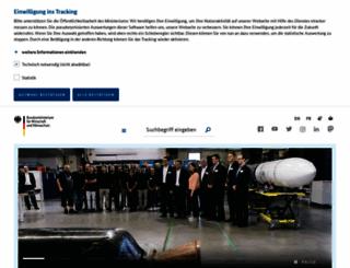bmwi.de screenshot