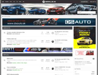 bmwklub.sk screenshot