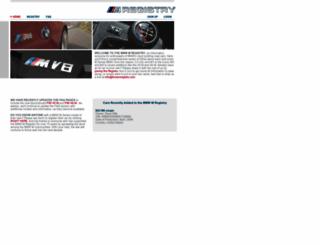 bmwmregistry.com screenshot