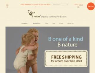 bnatureorganic.com screenshot