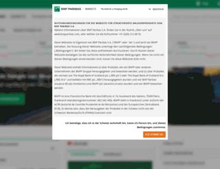 bnpparibasmarkets.ch screenshot