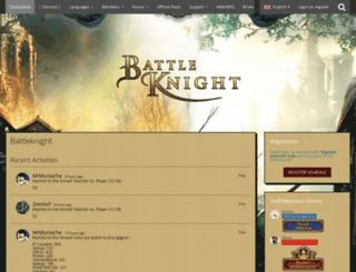 board.battleknight.hu screenshot
