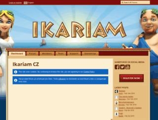 board.cz.ikariam.com screenshot