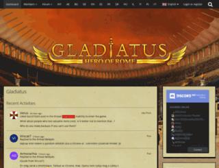 board.gladiatus.com.mx screenshot