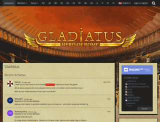 board.gladiatus.hu screenshot