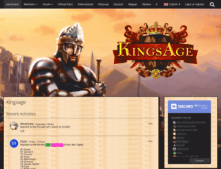 board.kingsage.fr screenshot