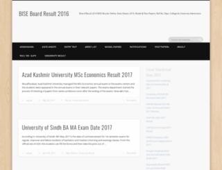board.result2014.pk screenshot