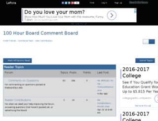 boardcommentboard.lefora.com screenshot