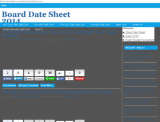boarddatesheet2014.in screenshot