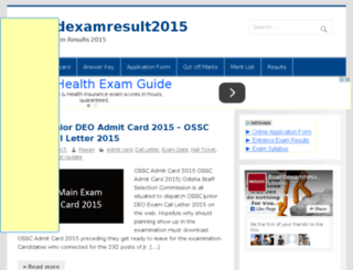 boardexamresult2015.in screenshot