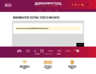 boardmasters.seetickets.com screenshot