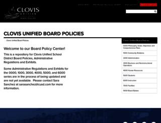 boardpolicies.cusd.com screenshot