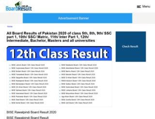 boardresult.com.pk screenshot