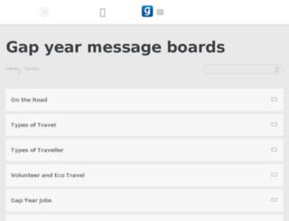 boards.gapyear.com screenshot