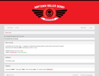 boards.naptownrollergirls.com screenshot