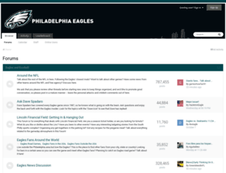 boards.philadelphiaeagles.com screenshot