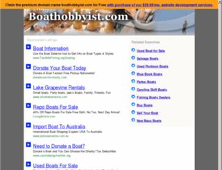 boathobbyist.com screenshot