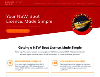 boatinglicence.com.au screenshot