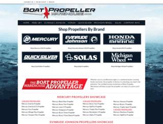 boatpropellerwarehouse.com screenshot