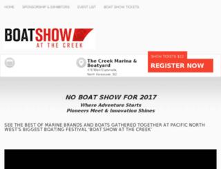 boatshowatthecreek.ca screenshot