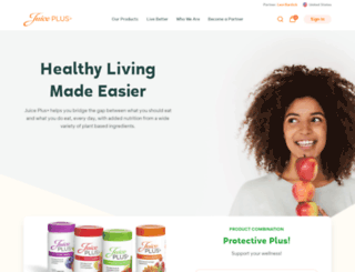 bob.juiceplus.com screenshot