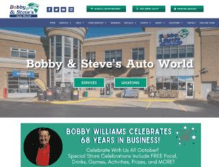 bobbyandstevesautoworld.com screenshot