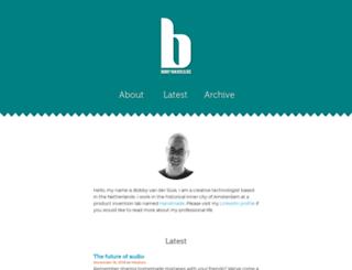 bobbyvandersluis.com screenshot