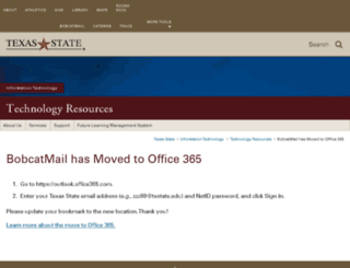 bobcatmail.txstate.edu screenshot