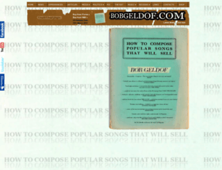 bobgeldof.com screenshot