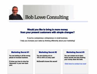 bobloweconsulting.com screenshot