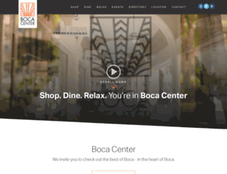 bocacenter.com screenshot