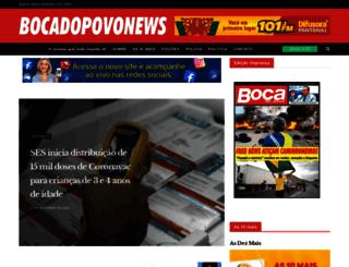bocadopovonews.com.br screenshot