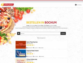 bochum.online-pizza.de screenshot