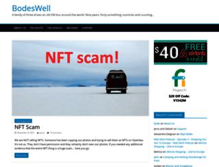 bodeswell.com screenshot