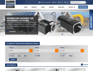 bodine-electric.com screenshot